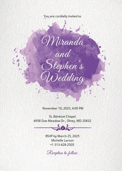 Watercolor Wedding Invitation Card Template.jpe