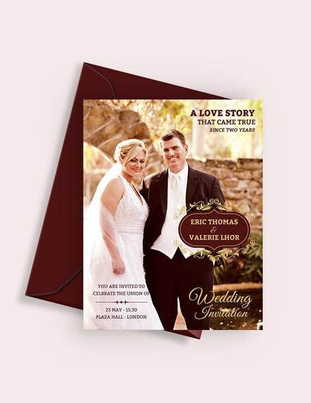 Sample Wedding Invitation Flyer Template