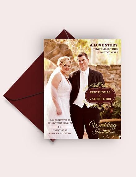 Wedding Invitation Flyer Template Download