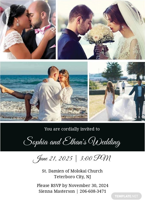 Wedding Photography Invitation Template