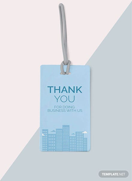 Free Thank You for Business Tag Template
