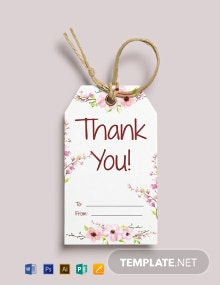 Thank You Gift Tag Template