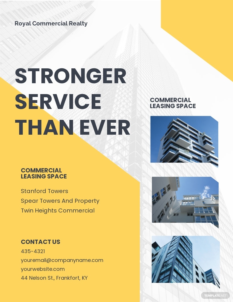 Commercial Property Flyer Template