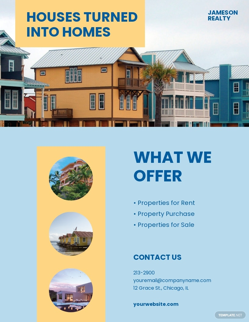 Family Vacation Rental Flyer Template