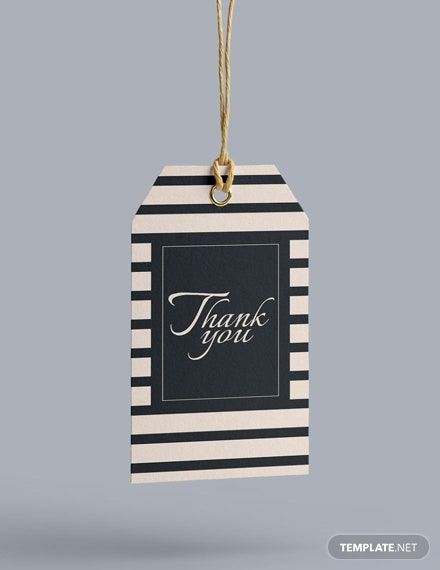 Free Thank You Hang Tag Template