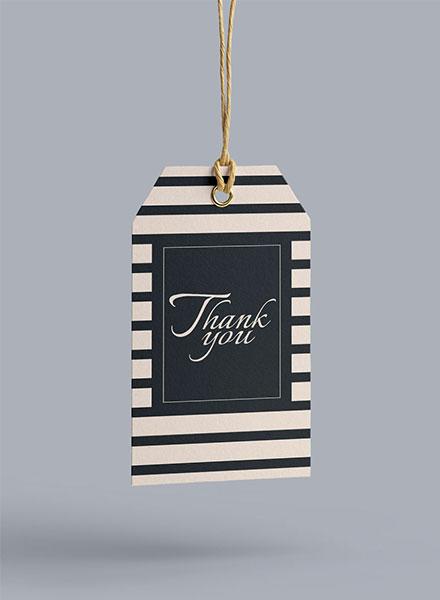 Free Thank You Hang Tag Template