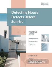 Home Inspection Flyer Template