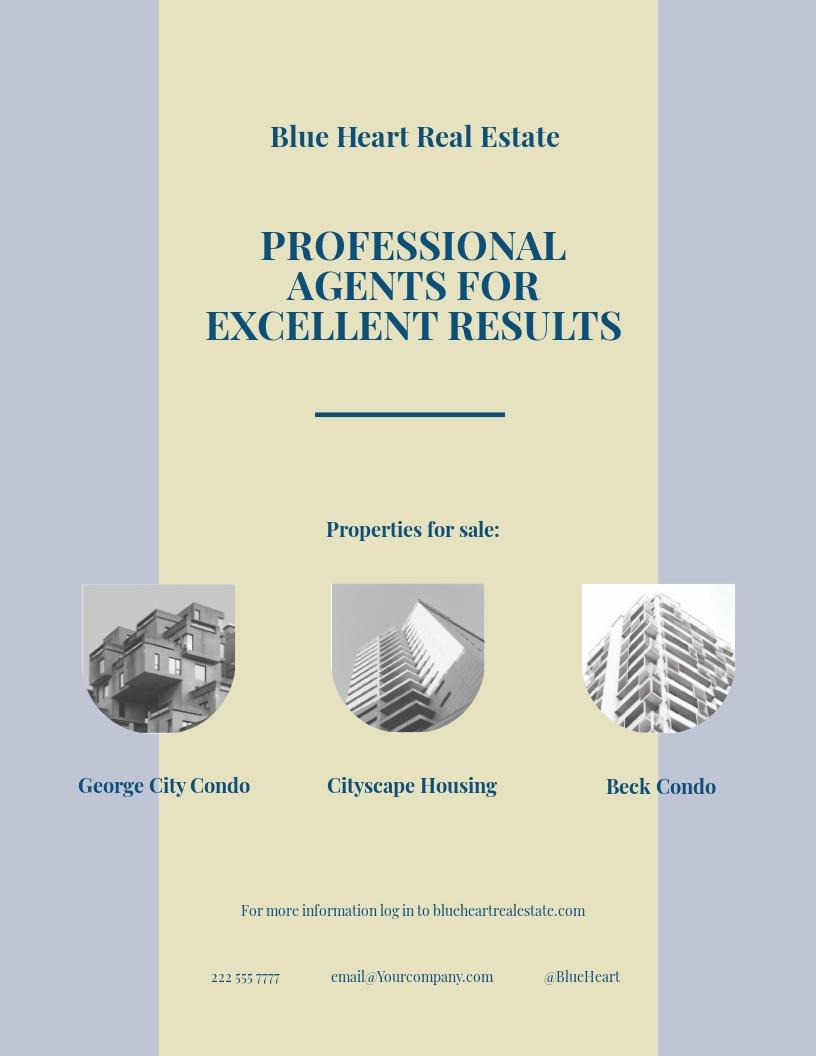 Independent Real Estate Broker Flyer Template