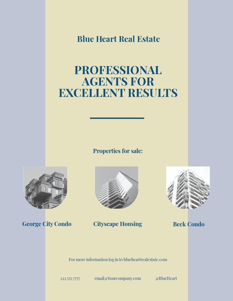 Independent Real Estate Broker Flyer Template.jpe