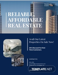 Luxury Real Estate Agent/Agency Flyer Template