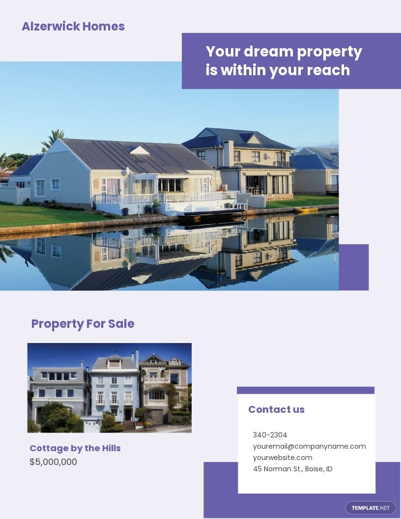 Residential Real Estate Agent/Agency Flyer Template