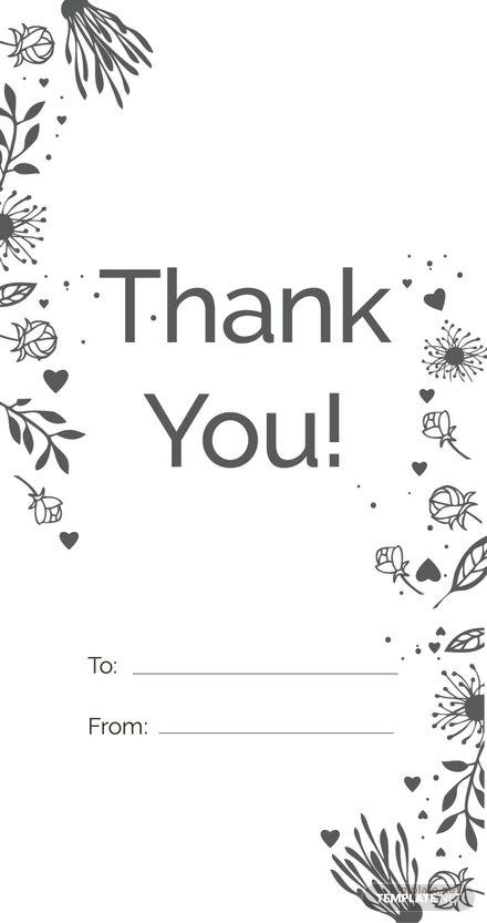 Free Floral Thank You Tag Template