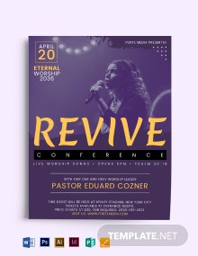 Revive Conference Church Flyer Template