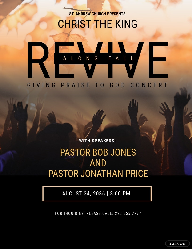 Revive Fall Church Flyer Template