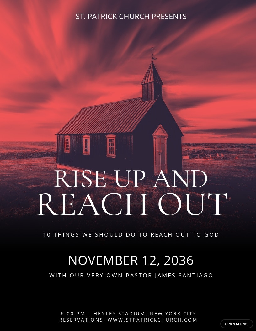 Rise Up Church Flyer Template