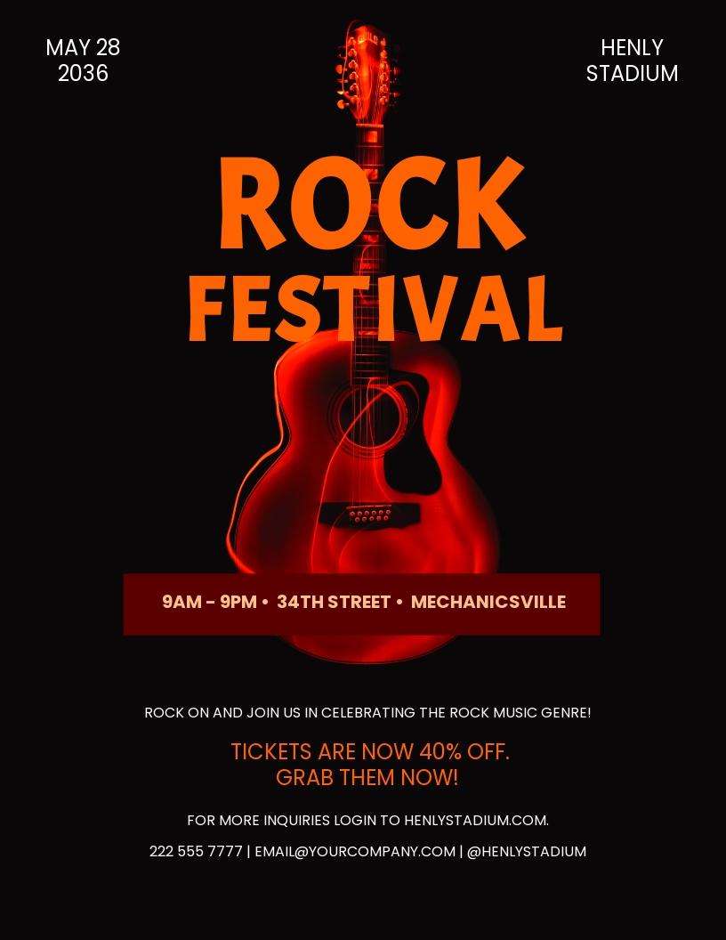 Rock Festival Flyer Template