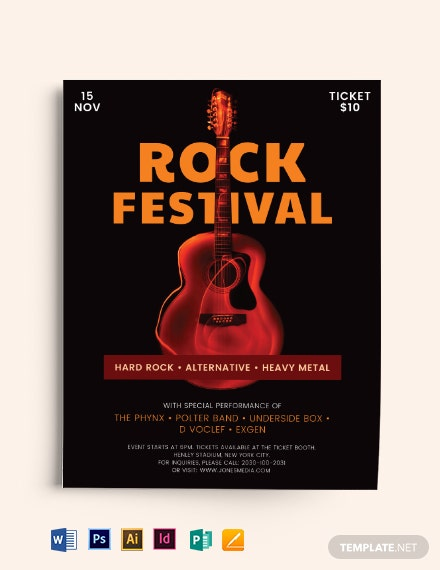 Rock Festival Flyer Template