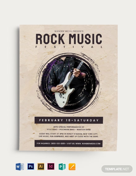 Rock Festival Music Flyer Template