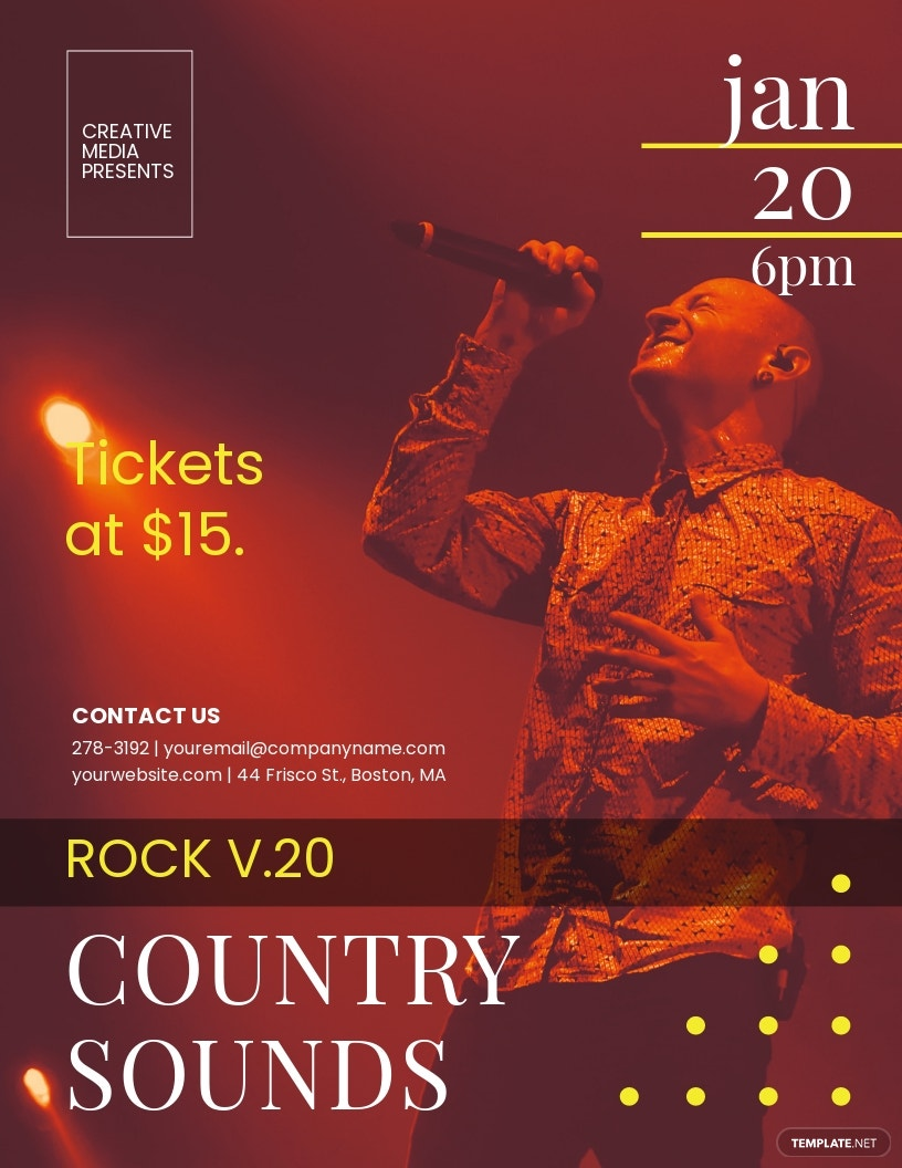 Rocktown Country Sounds Flyer Template
