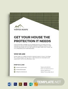 Roofing Contractor Flyer Template