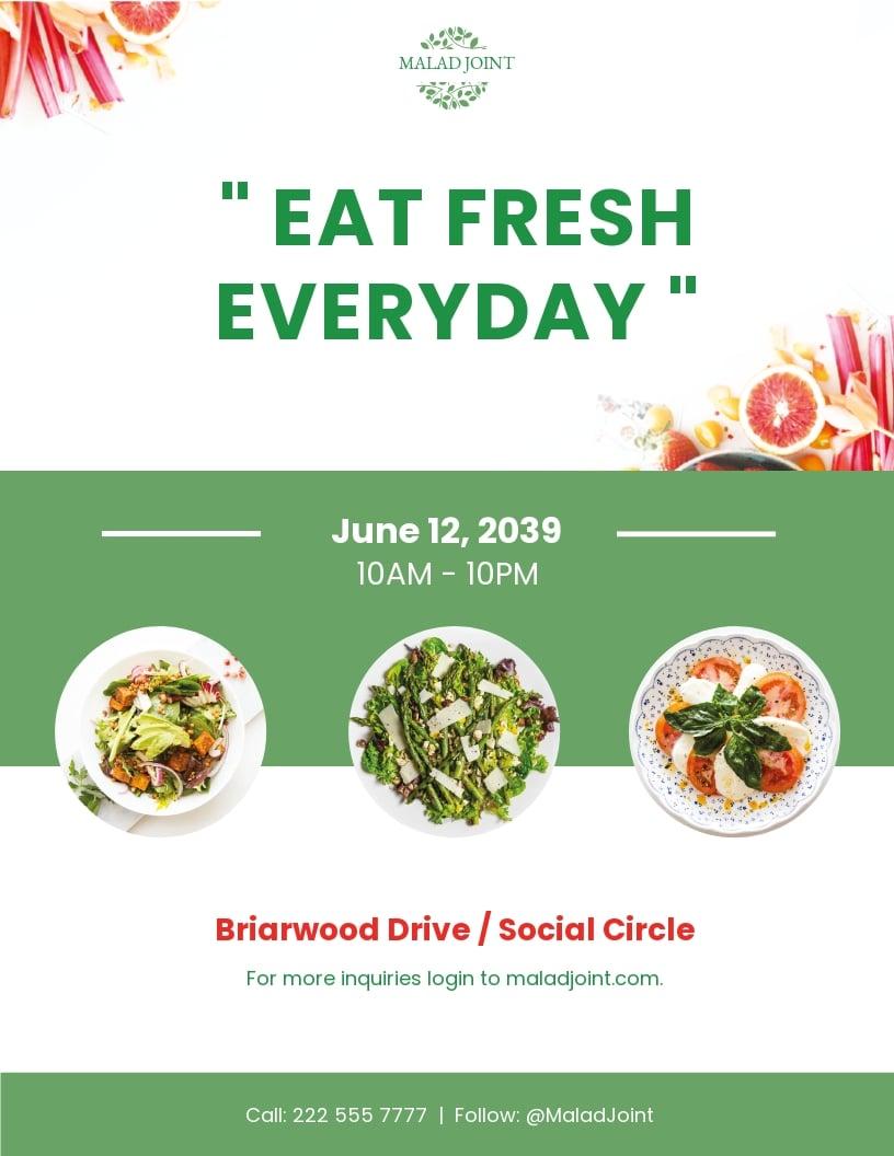 Salad Menu Flyer Template.jpe