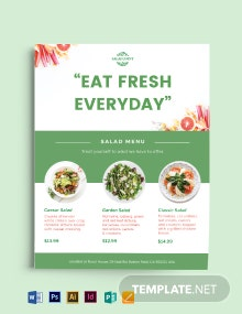 Salad Menu Flyer Template