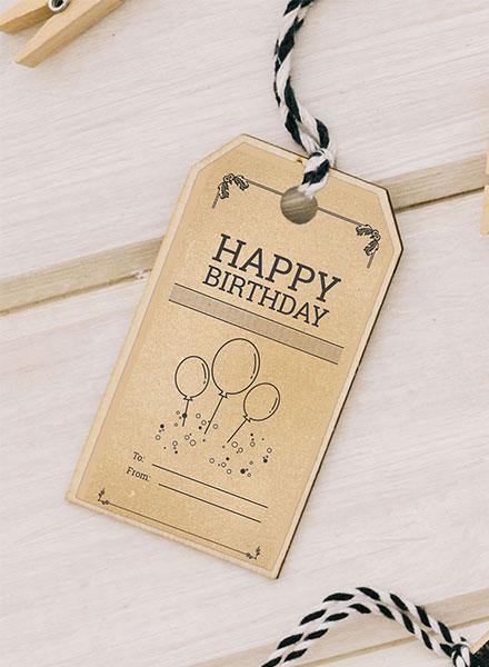 Free Vintage Birthday Tag Template