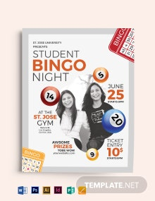 School Bingo Night Flyer Template