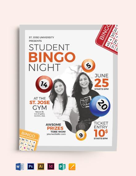 School Bingo Night Flyer Template