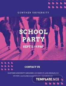 School Party Flyer Template
