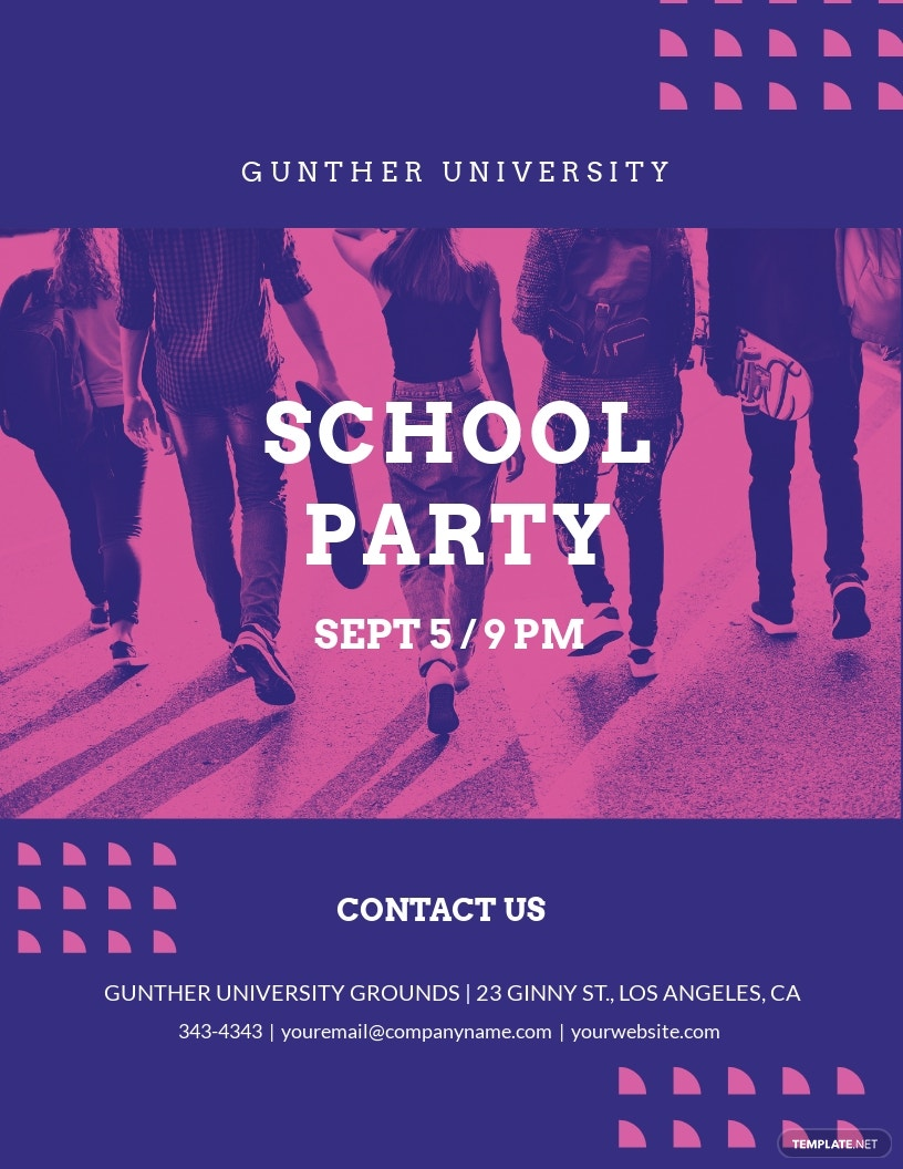 School Party Flyer Template.jpe