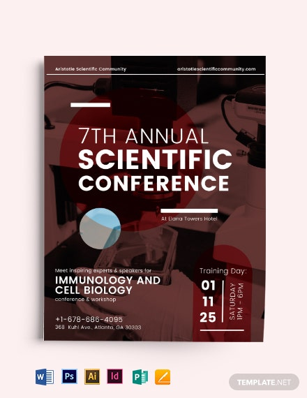 Scientific Conference Flyer Template