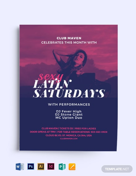 Sexy Latin Saturdays Flyer Template