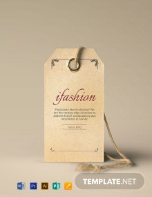Free Vintage Fashion Tag Template