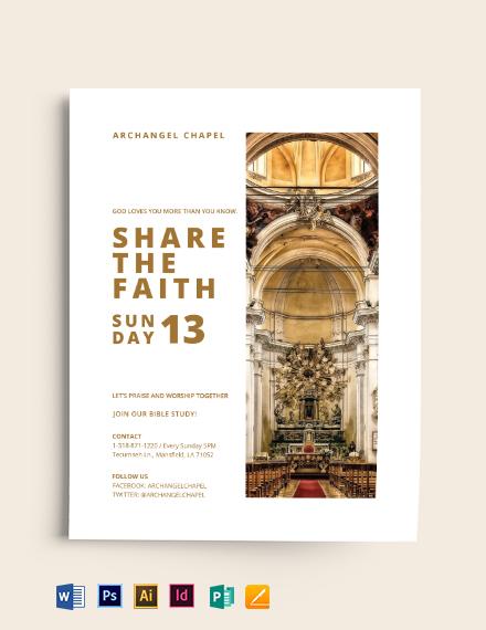 Share the Faith Church Flyer Template