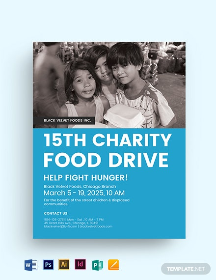 Charity Food Drive Flyer Template