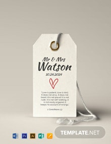 Wedding Gift Tag Template