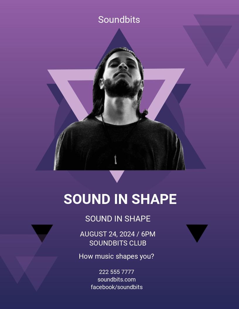 Geometric Concert Flyer Template