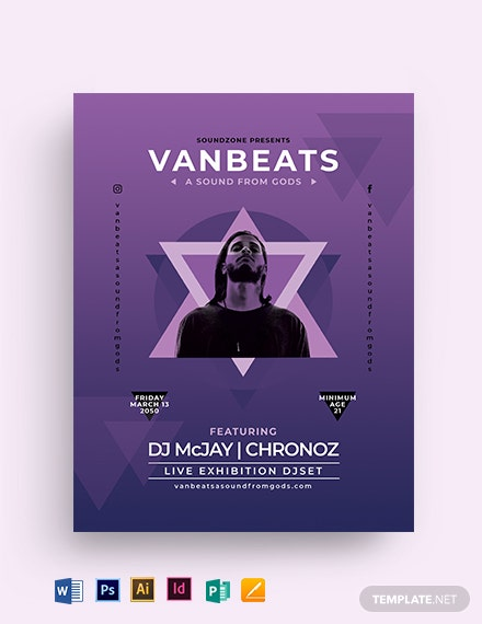 Geometric Concert Flyer Template