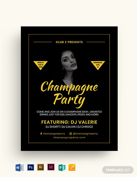 Gold Drinks Flyer Template