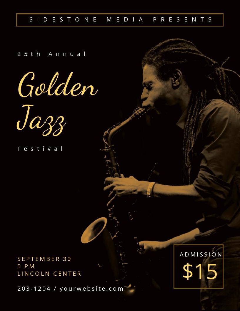 Golden Jazz Flyer Template.jpe