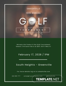 Golf Club Flyer Template