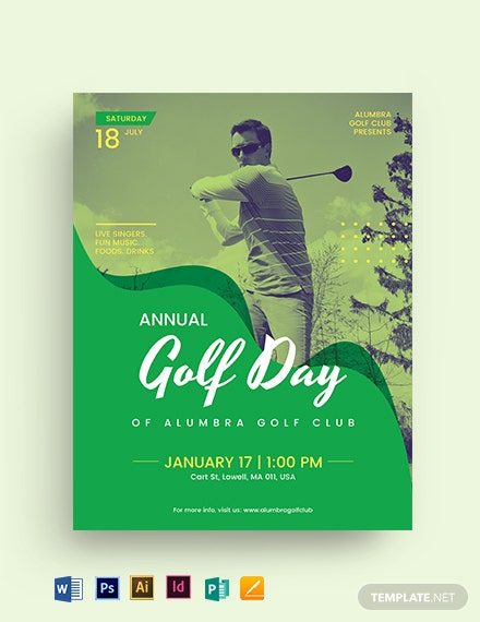 Golf Day Flyer Template