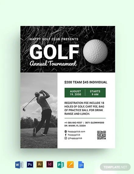 Editable Golf League Flyer Template