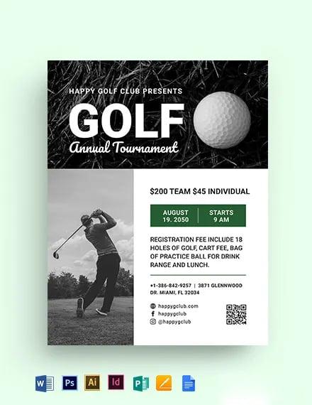 Golf League Flyer Template