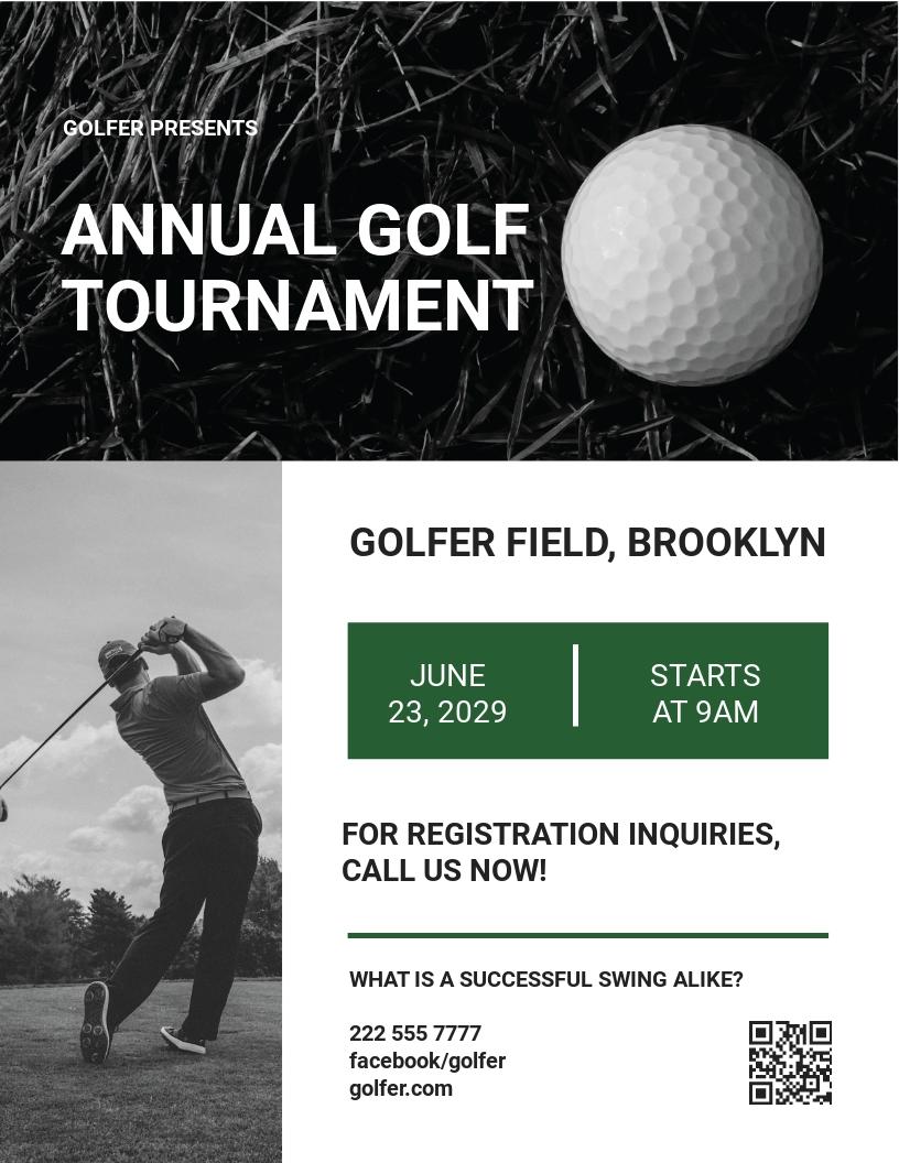 Editable Golf League Flyer Template