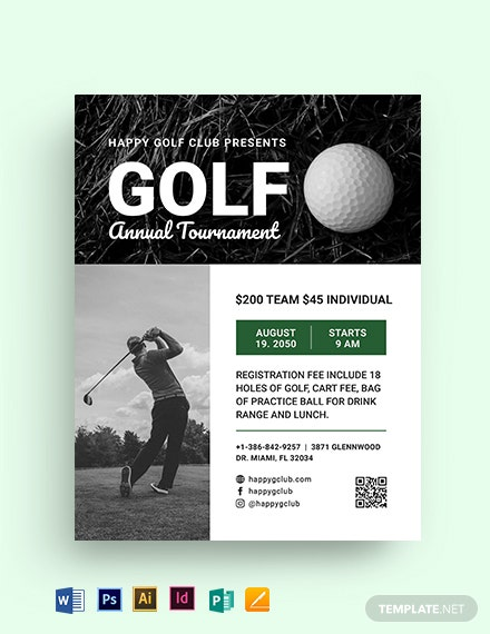 Golf League Flyer Template