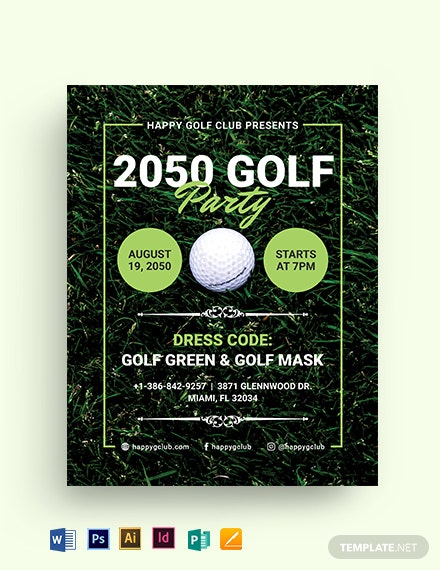 Golf Party Flyer Template