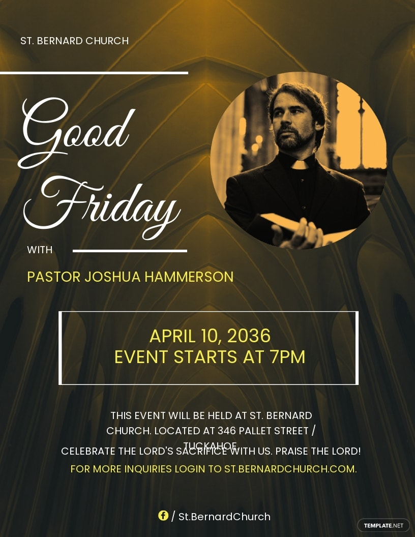 Good Friday Church Flyer Template