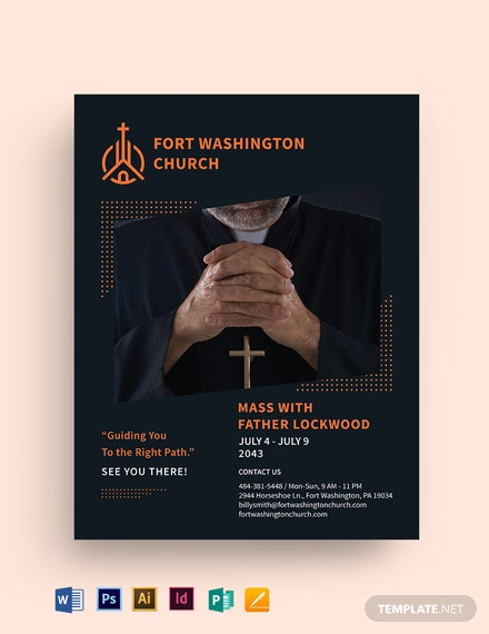 Hope Sermon Church Flyer Template